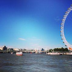 The London Eye. The Thames.