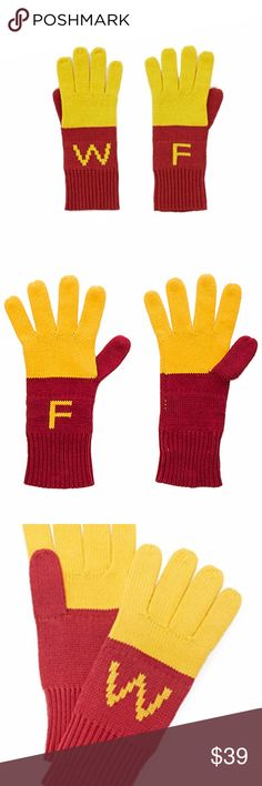 Wildfox French Fry Gloves Wildfox Couture Super Fries Finger Food Gloves are finger lickin' good. These cozy gloves feature an extra plush knit construction, vibrant coloring and WF initials on each hand. Wildfox Accessories Gloves & Mittens