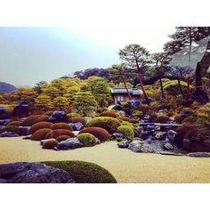 Hootsuite Adachi Museum Of Art, Zen Rock Garden, Traditional Japanese House, Japanese Gardens, Japanese Painting, Beautiful Moments, Amazing Gardens, Garden Landscaping, Garden Design