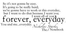 My favorite quote from Nicholas Sparks