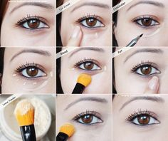 how to conceal undereye dark circles and bags; makeup tutorial - for more beauty diy inspiration, MyBeautyCompare Pinterest
