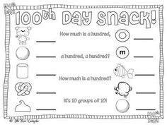 We make this trail mix every year love this pageLittle Miss Kindergarten - Lessons from the Little Red Schoolhouse!: Day Freebie and book picks! 100 Days Of School, School Holidays, School Fun, School Stuff, Winter Holidays, 100s Day, Miss Kindergarten, Kindergarten Classroom, 100 Day Celebration