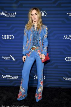Rockin' it: Suki Waterhouse attends The Hollywood Reporter's Next Gen 2016 Celebration at Nightingale in Los Angeles