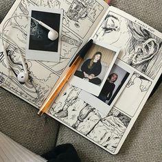 I love art that mixes skeletal structures, real life portraits and geometric sha. - I love art that mixes skeletal structures, real life portraits and geometric shapes (floral too, ev - Art Inspo, Kunst Inspo, Kunstjournal Inspiration, Sketchbook Inspiration, Sketchbook Ideas, Drawing Sketches, Art Drawings, Drawing Art, Floral Drawing