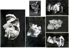 les petites têtes de l'art: Idées noires d'après les papiers déchirés de Jan Arp