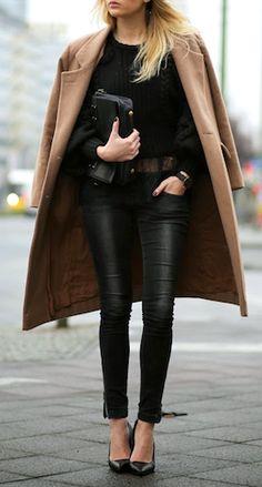 Black & camel | fall style.