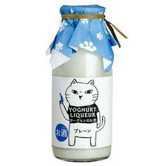 *【お酒】ヨーグルトのお酒 プレーン 猫ラベル 170ml(リキュール)   カルディコーヒーファーム 公式オンラインショップ