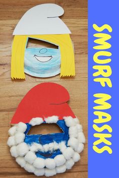 Smurfs the Lost Village Movie - Easy paper Plate Smurf Masks Craft #SmurfsMovie #ad #RWM