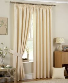 Luxury jacquard pencil pleat ivory cream curtains have a subtle square pattern with 3 inch pencil pleat heading. Jacquard curtains are available in four colors.Lined curtains are best choice for bedrooms and living rooms Curtains Dunelm, Curtains Uk, Balloon Curtains, French Door Curtains, Tassel Curtains, Beige Curtains, Pleated Curtains, Grommet Curtains, Cream Eyelet Curtains