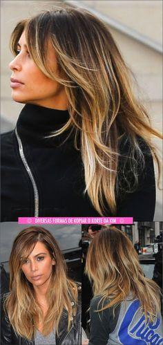O korte de kabelo da kim kardashian balayage hair, hair colo Love Hair, Great Hair, Gorgeous Hair, Balayage Hair, Ombre Hair, Kim Kardashian Cabelo, Kim Kardashian Highlights, Kardashian Nails, Kardashian Wedding