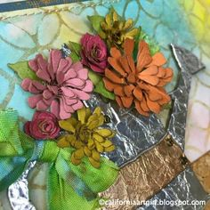 Richele Christensen: Tiny Tattered Florals die - Thank You Card