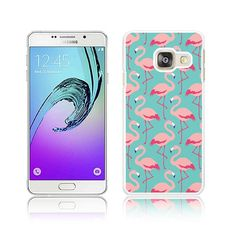 818e2a4d1e2 Flamingo Pink on Teal Hard Cover for Samsung GALAXY A3 A3 Glass Screen, A3,