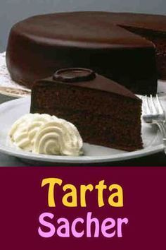 Sacher torte is a classic Austrian chocolate cake layered with apricot preserves. Sweet Recipes, Cake Recipes, Dessert Recipes, Food Cakes, Cupcake Cakes, Sacher Torte Recipe, Bolos Naked Cake, Cakes And More, Chocolate Desserts