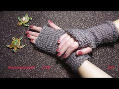 Guantes sin Dedos (Mitones) a Crochet - Punto Tunecino - Paso a Paso - YouTube