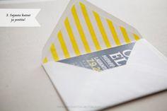 DIY: Kirjekuorten sisustat