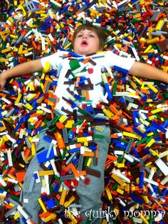 This is my son at the Portland LEGO KidsFest!