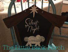 Silent Night Door Hanger -$35