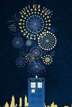 Happy New Year, from the Doctor to you. (Artist unknown.) - Imgur