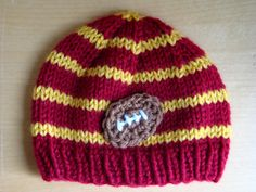 Hey, I found this really awesome Etsy listing at https://www.etsy.com/listing/156456605/baby-football-beanie-usc-trojan-football
