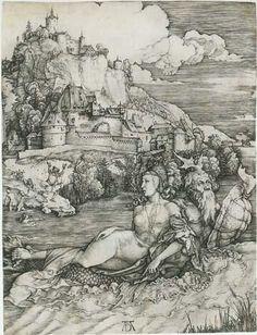 Albrecht Dürer : The Sea Monster (Metropolitan Museum of Art) アルブレヒト・デューラー Albrecht Durer, Alphonse Mucha, National Gallery Of Art, Art Gallery, Paul Gauguin, Sea Monsters, Italian Artist, Art Plastique, Toulouse