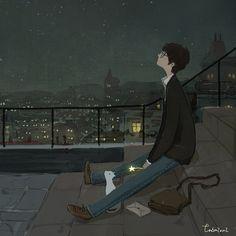 술을 좋아하진 않지만 가끔 취하곤 해요   바로 집에 들어가기 아쉬워 별이 가장 잘 보이는 곳에서  몇 개 남지 않은 별을 보곤 하죠   잊으려고 노력했던 사실들이 생생해지고 다 잊은 줄 알았던 향기가 나는 듯 해요   문득 말하지 못한 미안함을 전하고 싶어요 당연한 듯 지나쳤던 고마움도 말하고 싶고   마음속에 가득한 붙이지 못한 편지를 내일 그대 책상 앞에 놓아두고 싶네요   어후... 이 술  얼른 깨야 겠어요
