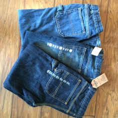 BOYS 12 HUSKY JEANS Two brand new pair of Oshkosh b'gosh new with tags, retailed at 34 each and one pair faded glory, gently worn.   All are size 12 husky to have straight wide leg, one looks to have straight leg.  I'll also have the easy adjustable waist. Osh kosh & Faded Glory Jeans