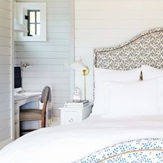 """A little bit country, a lot of lovely. And if you like this bedroom, you'll love the rest of this gorgeous """"cottage""""."""