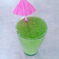 Wishing summer would come back. I'll just have a green pina colada smoothie instead.