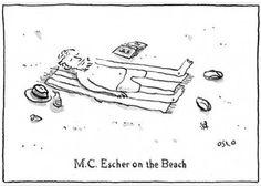 Escher on the Beach Comic - http://www.moillusions.com/escher-on-the-beach/