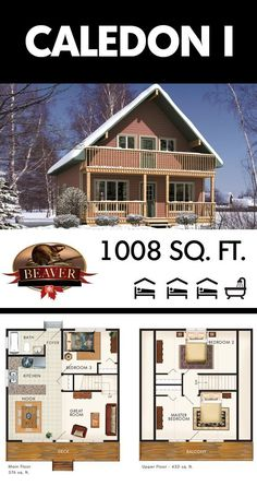 This two-story chalet style #cottage has lots of space for relaxing in the sun or keeping cool in the shade – a winter getaway or summer paradise. #BeaverHomesandCottages