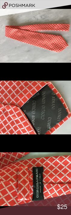 Giorgio Armani men's tie Great pattern, black label, some stitching on the inside looks to be loose stitching. Not brown- just loose. The stitching in this area is always loose though. See photos. Giorgio Armani Accessories Ties