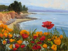 """Since I was a child, I enjoyed being out of doors. …The Society of Six, a group of California landscape painters, wrote in their manifesto ""To us, seeing is the greatest joy of existence, and we try to express that joy."" Bringing my joy of seeing to others through my painting gives me great satisfaction."" – Michele Hausman"