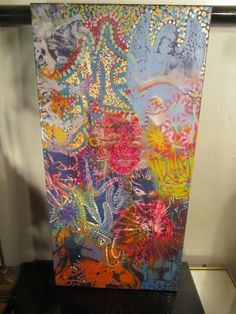 ABSTRACT GRAFFITI CANVAS PAINTING 12x24~ by artist musk yai 2017~ready to hang #PopArt