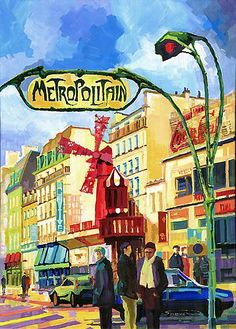 Paris Metropolitain Blanche Moulin Rouge, Yuriy Schevchuk