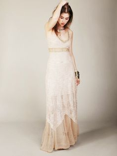 Free People crochet dress for brides or bridesmaids
