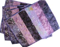 QUILTED PLACEMATS PURPLE | Shades of Purple Quilted Placemats