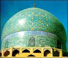 Masjid-e Shah, the Shah's Mosque in Esfahan via Iran Chamber Society: Iranian Cities: Esfahan