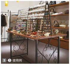 【楽天市場】アイアン大型アクセサリー什器セット W150cm ホワイト+天板ホワイト sale:店舗道具屋 メイチョー