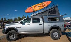 The Lightweight Pop Top Truck Camper Revolution Gearjunkie Used Campers, Pop Up Truck Campers, Pickup Camper, Pickup Trucks, Roof Top Campers, Offroad Camper, Truck Bed Camping, Truck Tent, Truck Toppers