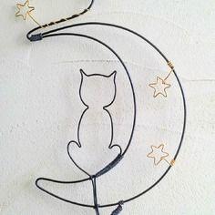 Décoration fil de fer ⚓ plaque de porte ⚓ décoration originale ⚓ chat⚓