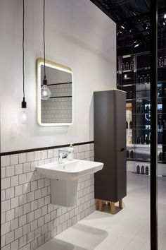 Working with world-class designers, our extensive bathroom ranges cover all of your bathroom needs. Vitra Bathrooms, Tile Showroom, Frankfurt, Exhibitions, Tiles, Bathtub, Barn, Design, Room Tiles