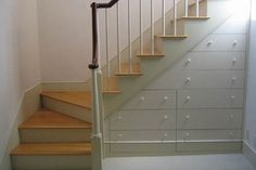 Actually gives step-by-step instructions for creating storage or drawers under your stairs.