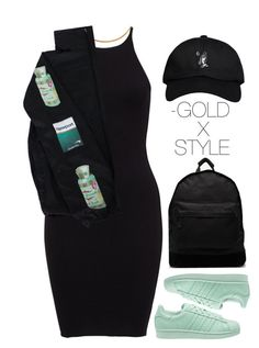 """SAD."" by goldxstyle ❤ liked on Polyvore featuring Vassiliki, adidas Originals, Mi-Pac and October's Very Own"