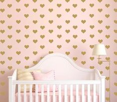 Top 10 Nursery Design Trends of 2015 | We can't help but <3 this interior trend! Hearts are hot this year -- use them show baby just how much you love them!