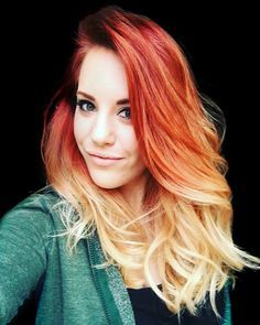 ombre bright orange - Google Search