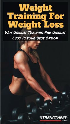 Learn why weight training for weight loss is your best option out of all the different ways to lose weight. Discover why it always should be central in your weight loss efforts! Losing Weight Tips, Weight Loss Goals, Weight Loss Program, Healthy Weight Loss, How To Lose Weight Fast, Lose Fat, Fitness Motivation, Fitness Tips, Easy Fitness