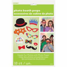 10 Funny Large Selfie Photo Prop s/Selfie Props/Photo Booth Party Props/Party