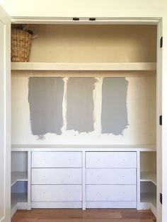 Something like this would be great to add storage to the girls' closets...the 'base' is the same Ikea dressers you already have