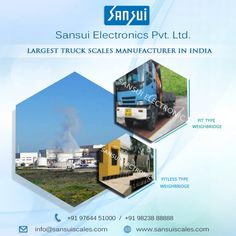 We export #Pittype and #Pitlesstypeweighbridge in all over the #India in best market price only at Sansui Electronics Pvt.Ltd. visit at…www.sansuiscales.com Truck Scales, Large Truck, Weighing Scale, Market Price, India, Mansions, Electronics, House Styles, Scale