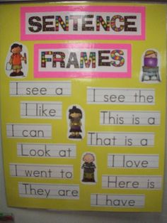 Great poster to remake and hang in a classroom. Has easy sentence starters that students can read on their own.